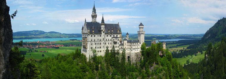 Panorama zamku Neuschwanstein