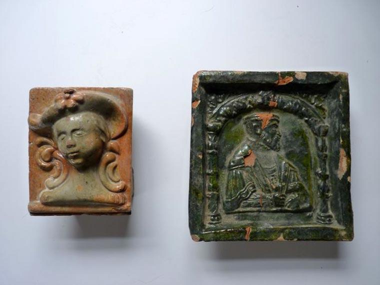Kafle piecowe z XVI i XIXw