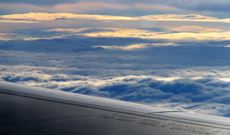 Widok z samolotu podczas lotu