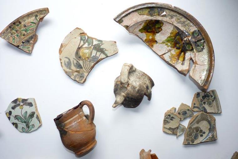 naczynia z XVI-XVIIIw