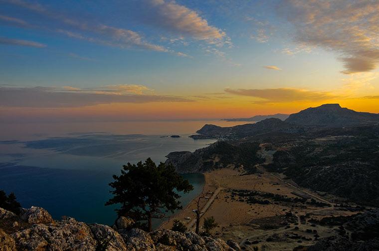 Zachód słońca na wyspie Rodos
