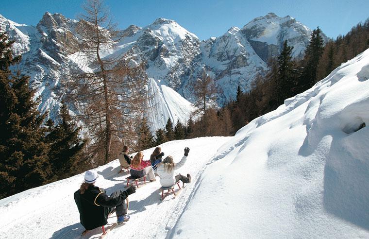 Narciarz, Dolina Stubai, Austria