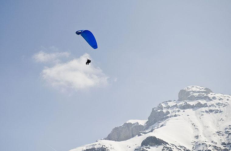 Dolina Stubai Elferlifte Paragliding - paralotniarstwo