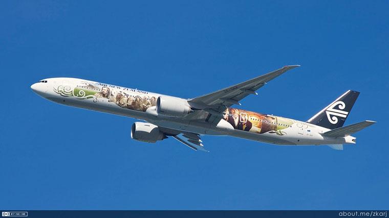 Linie lotnicze Air New Zealand, malowanie samolotu - Hobbit
