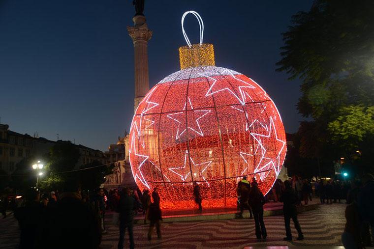 Dekoracje świąteczne ulic w Lizobnie, Portugalia