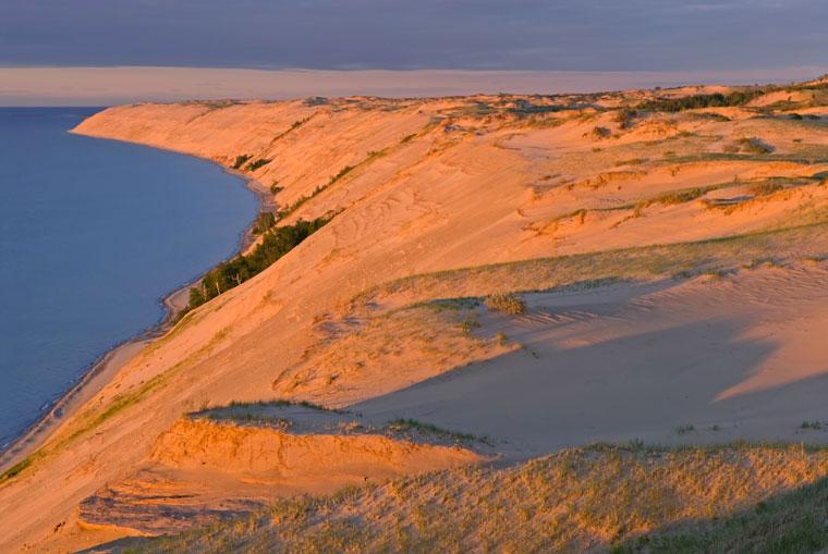Wielkie Piaskowe Wydmy, Jezioro Michigan, Stany Zjednoczone