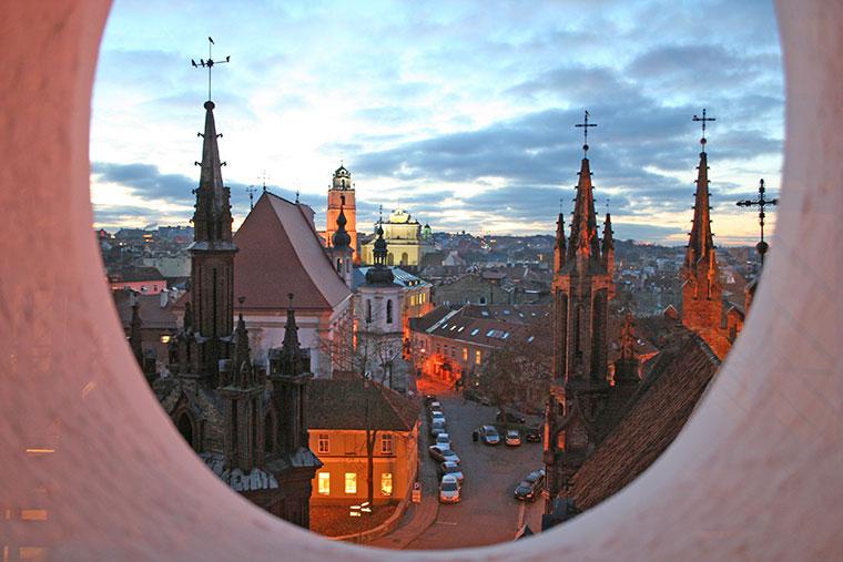 Widok z Kościoła św. Bernardino, Wilno, Litwa