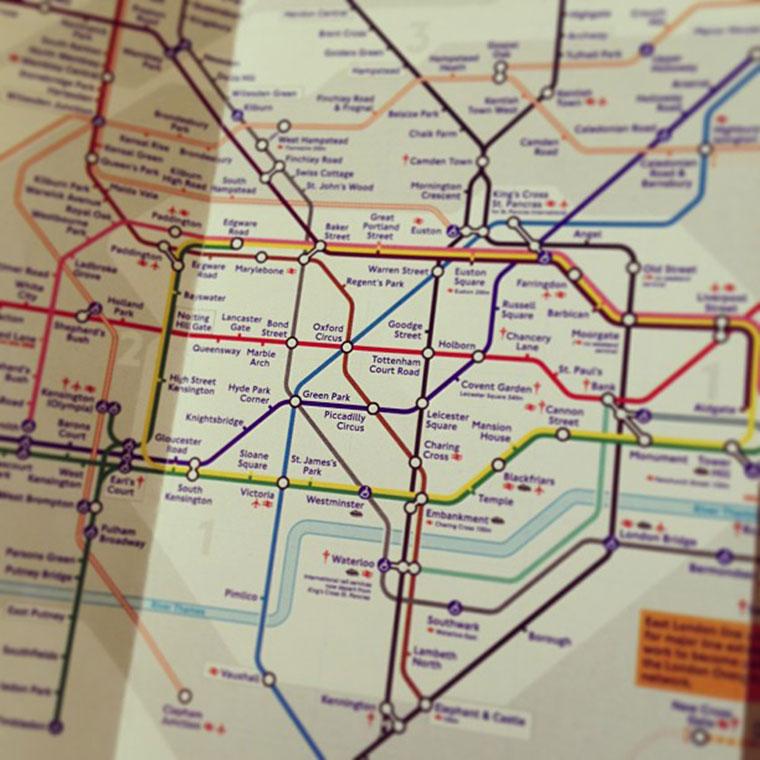 Mapa londyńskiego metra