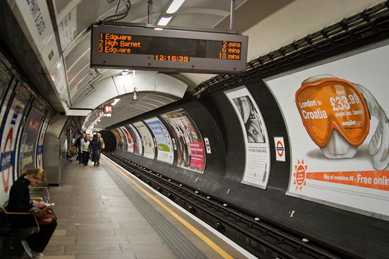 Londyńskie metro, Anglia