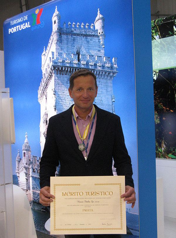 Prezes Itaki z medalem za zasługi turystyczne dla Portugalii