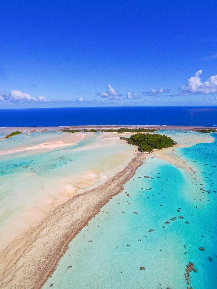 Wyspa Rangiroa, Polinezja Francuska, Niebieska laguna
