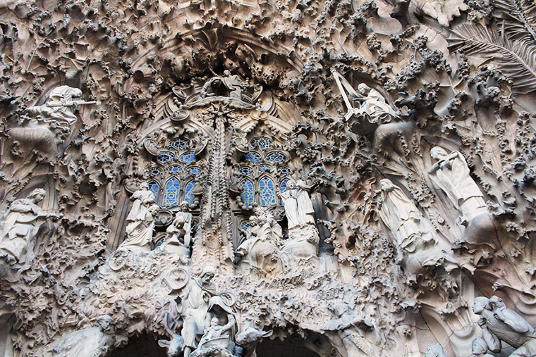 Sagrada Familia - jeden z symboli Barcelony, Hiszpania