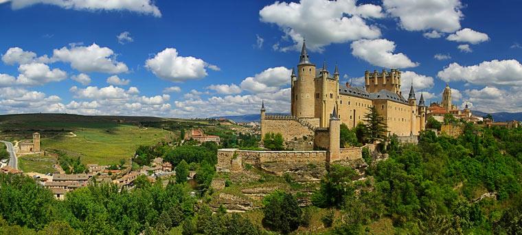 Zamek w Segovii, Hiszpania