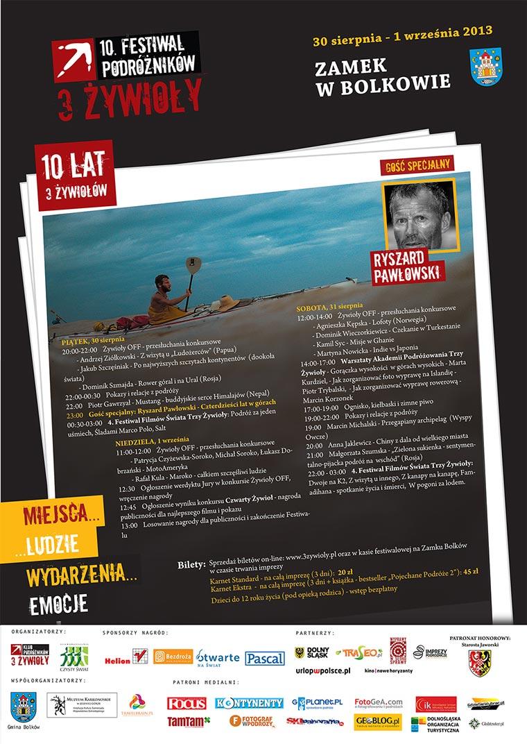 Plakat Trzy Żywioły w Bolkowie 2013