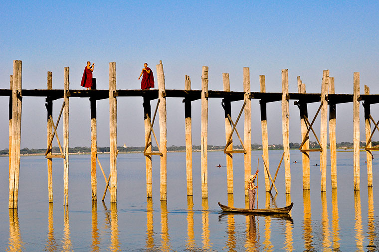 U Bein Bridge w Myanmarze