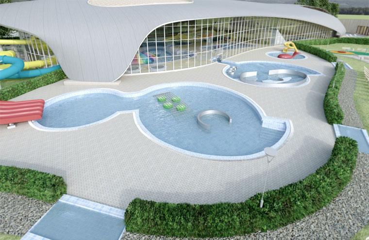 Wizualizacja Aquaparku w Koszalinie