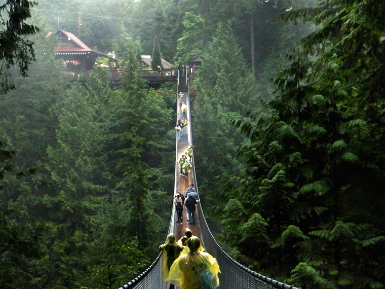 Capilano Suspension Bridge w Kanadzie