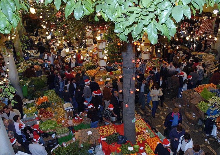 Funchal, Noite de Mercado, Madeira,  Portugalia