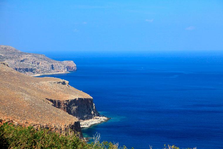 Krajobraz wybrzeża, Kreta, Grecja