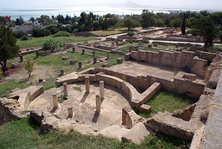 Ruiny starej rzymskiej willi, Kartagina, Tunezja