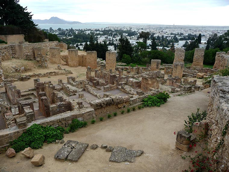 Ruiny starożytnej Kartaginy, Tunezja